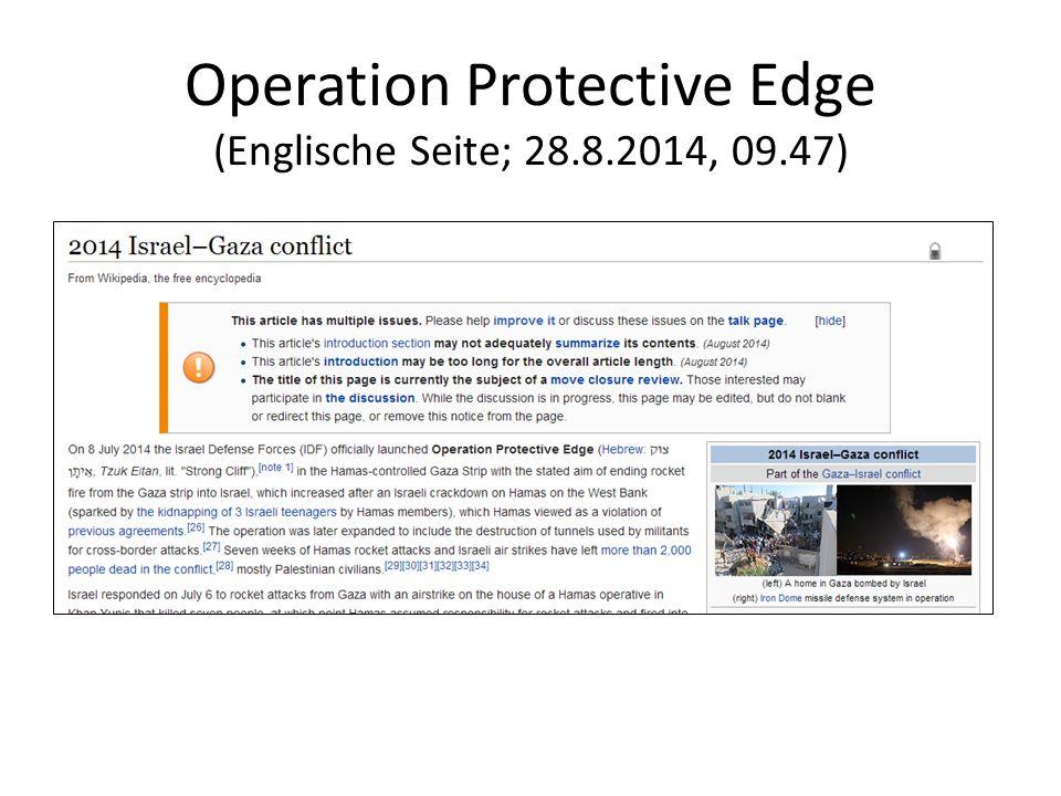 Operation Protective Edge (Englische Seite; 28.8.2014, 09.47)
