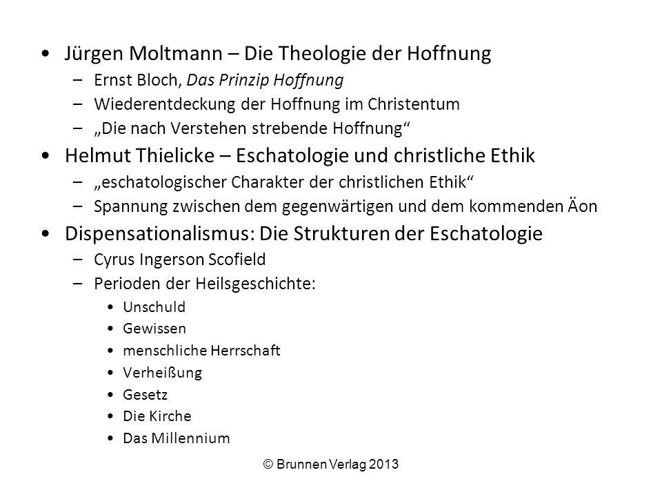 –Die Kirche und Israel –Die Entrückung –Die Zeit der großen Trübsal Spe Salvi: Benedikt XVI.