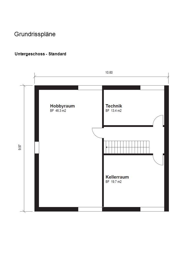 Grundrisspläne Untergeschoss - Standard