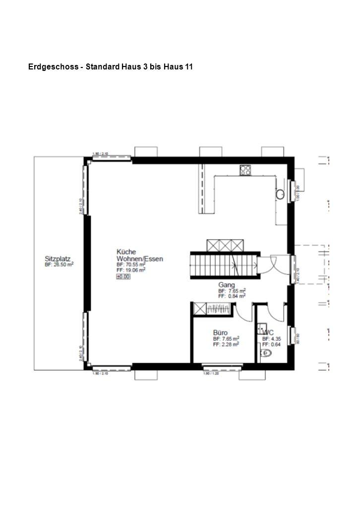 Obergeschoss - Standard Haus 1