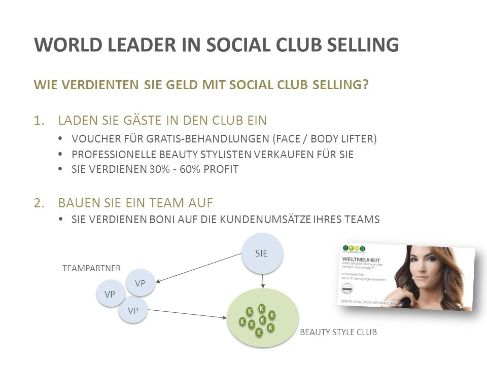 WORLD LEADER IN SOCIAL CLUB SELLING WIE VERDIENTEN SIE GELD MIT SOCIAL CLUB SELLING.