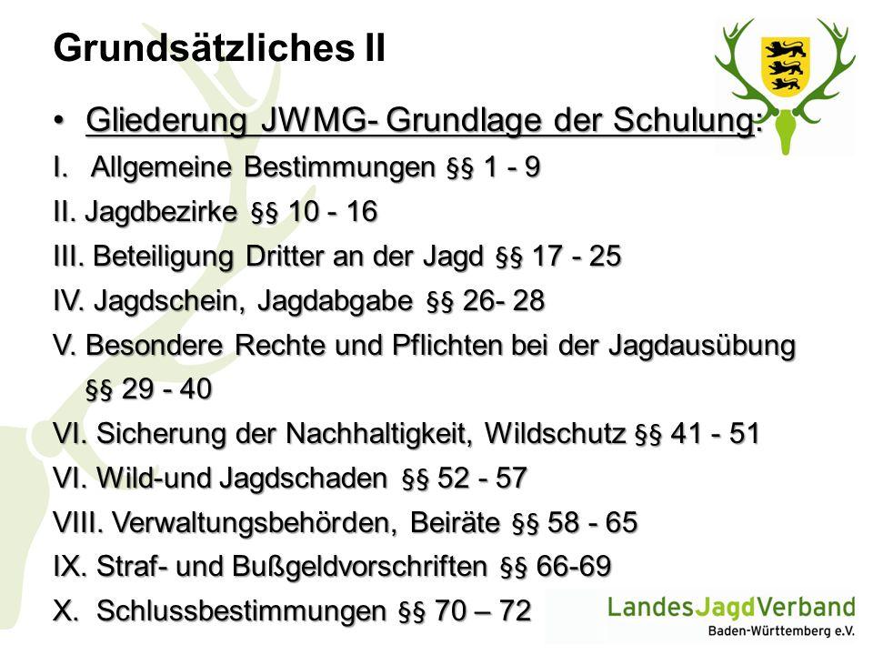 Wildtiere und Management- stufen (Schalenmodell- JWMG § 7) Anhang 1 JWMG: Artenliste Schutzmanagement Haarwild: Luchs, Wildkatze Federwild: Auerwild, Haselwild, Habicht, Wanderfalke, Hohltaube, Rebhuhn, Kormoran, übrige Enten (Anatinae) ohne Säger, übrige Gänse (Anser und Branta),