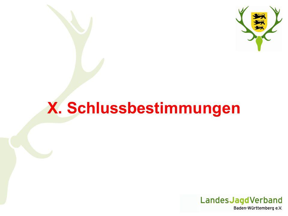 X. Schlussbestimmungen