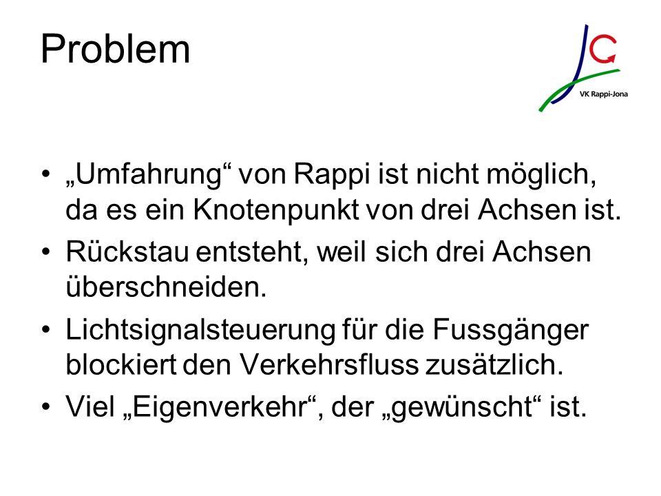"""Problem """"Umfahrung von Rappi ist nicht möglich, da es ein Knotenpunkt von drei Achsen ist."""