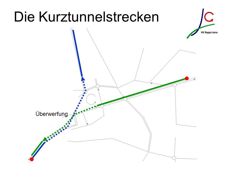 Die Kurztunnelstrecken Überwerfung