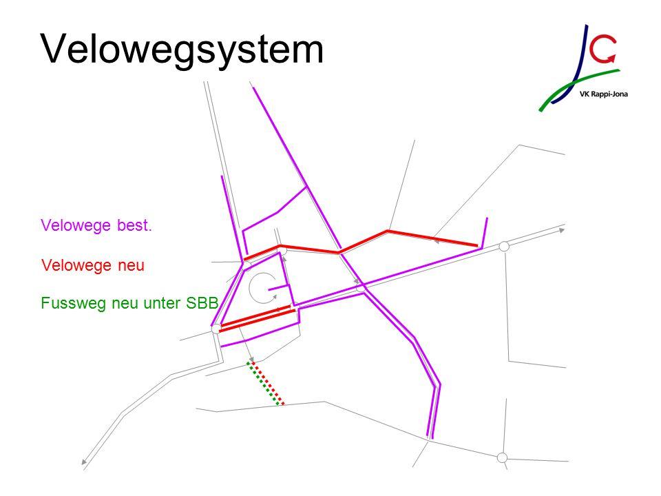 Velowegsystem Velowege best. Velowege neu Fussweg neu unter SBB