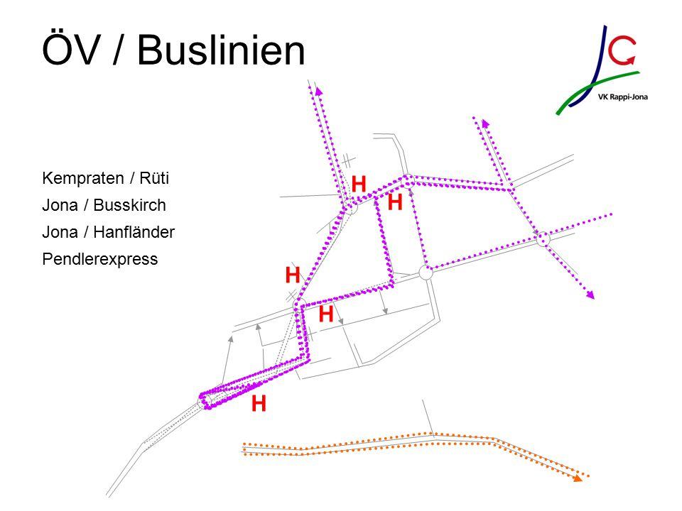 ÖV / Buslinien H H H H H Kempraten / Rüti Jona / Busskirch Jona / Hanfländer Pendlerexpress