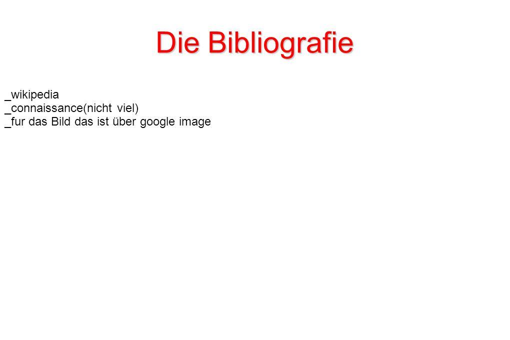 Die Bibliografie _wikipedia _connaissance(nicht viel) _fur das Bild das ist über google image