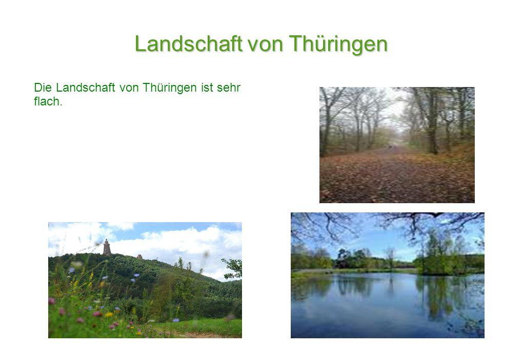 Landschaft von Thüringen Die Landschaft von Thüringen ist sehr flach.