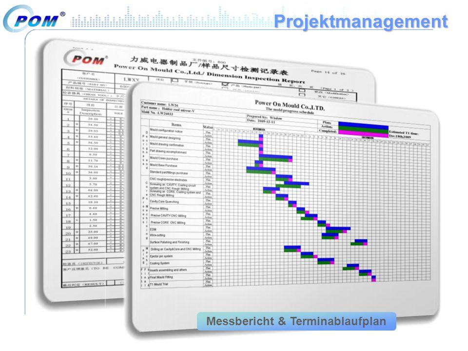 Projektmanagement Messbericht & Terminablaufplan
