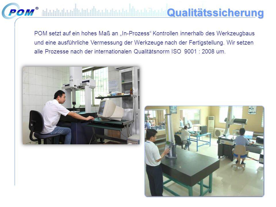"""Qualitätssicherung POM setzt auf ein hohes Maß an """"In-Prozess"""" Kontrollen innerhalb des Werkzeugbaus und eine ausführliche Vermessung der Werkzeuge na"""