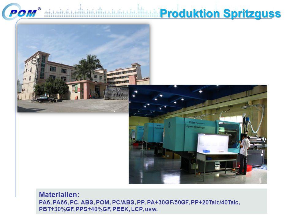 Produktion Spritzguss Materialien: PA6, PA66, PC, ABS, POM, PC/ABS, PP, PA+30GF/50GF, PP+20Talc/40Talc, PBT+30%GF, PPS+40%GF, PEEK, LCP, usw.