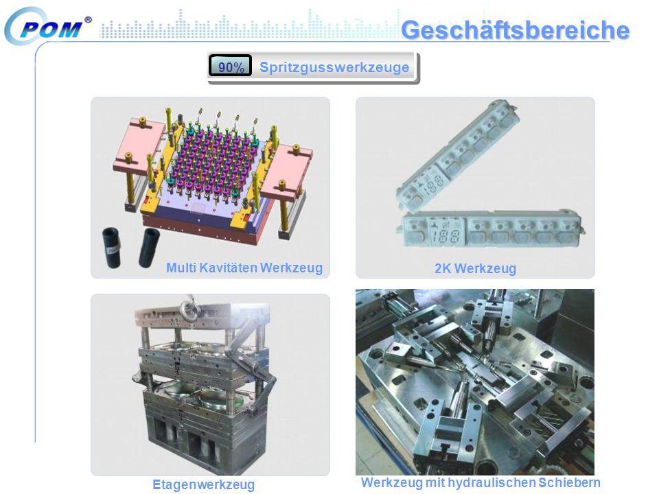 Geschäftsbereiche Spritzgusswerkzeuge 90% Multi Kavitäten Werkzeug 2K Werkzeug Etagenwerkzeug Werkzeug mit hydraulischen Schiebern