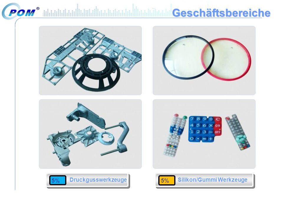 Geschäftsbereiche Druckgusswerkzeuge Silikon/Gummi Werkzeuge 5%5%5%5%