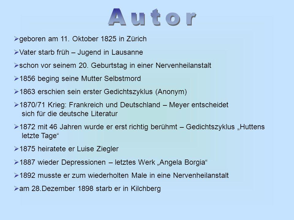  geboren am 11. Oktober 1825 in Zürich  Vater starb früh – Jugend in Lausanne  schon vor seinem 20. Geburtstag in einer Nervenheilanstalt  1856 be