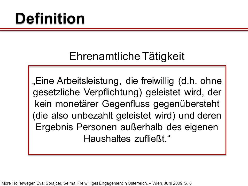 """Definition """"Eine Arbeitsleistung, die freiwillig (d.h."""