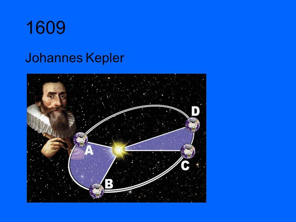 1609 Johannes Kepler