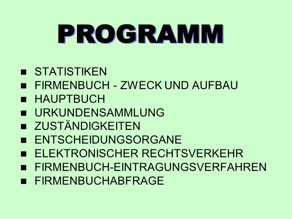 RECHTSPFLEGER - STATISTIK