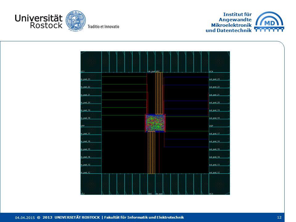 Institut für Angewandte Mikroelektronik und Datentechnik Institut für Angewandte Mikroelektronik und Datentechnik 4.