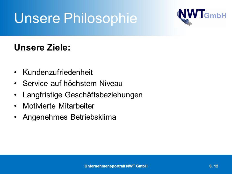 Unsere Philosophie Unsere Ziele: Kundenzufriedenheit Service auf höchstem Niveau Langfristige Geschäftsbeziehungen Motivierte Mitarbeiter Angenehmes B
