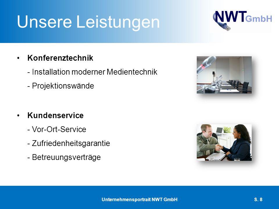 Unsere Leistungen Konferenztechnik - Installation moderner Medientechnik - Projektionswände Kundenservice - Vor-Ort-Service - Zufriedenheitsgarantie -