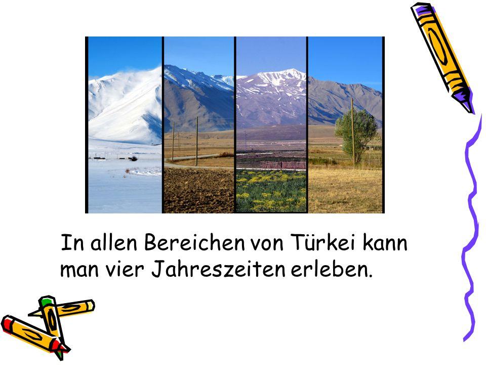 Türkei besteht aus sieben Bereichen.