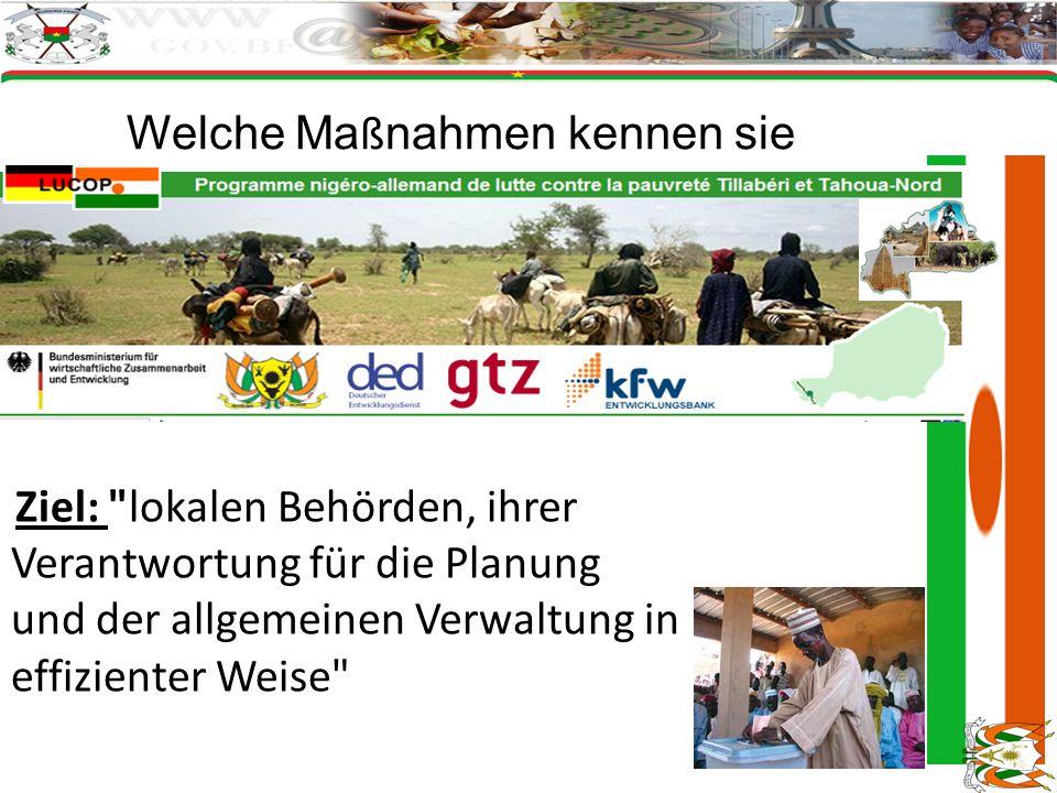 Welche Ma ß nahmen kennen sie Ziel: lokalen Behörden, ihrer Verantwortung für die Planung und der allgemeinen Verwaltung in effizienter Weise