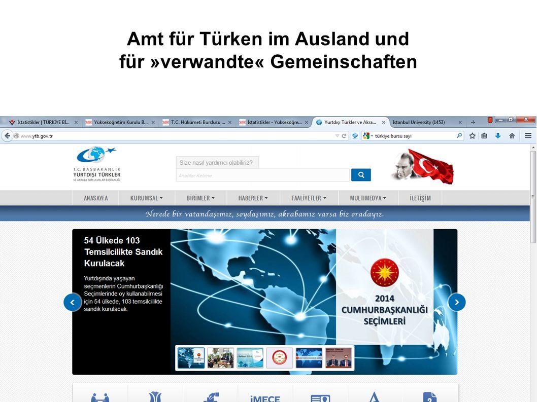 Amt für Türken im Ausland und für »verwandte« Gemeinschaften