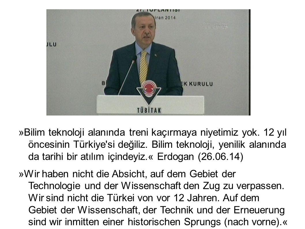 »Bilim teknoloji alanında treni kaçırmaya niyetimiz yok. 12 yıl öncesinin Türkiye'si değiliz. Bilim teknoloji, yenilik alanında da tarihi bir atılım i