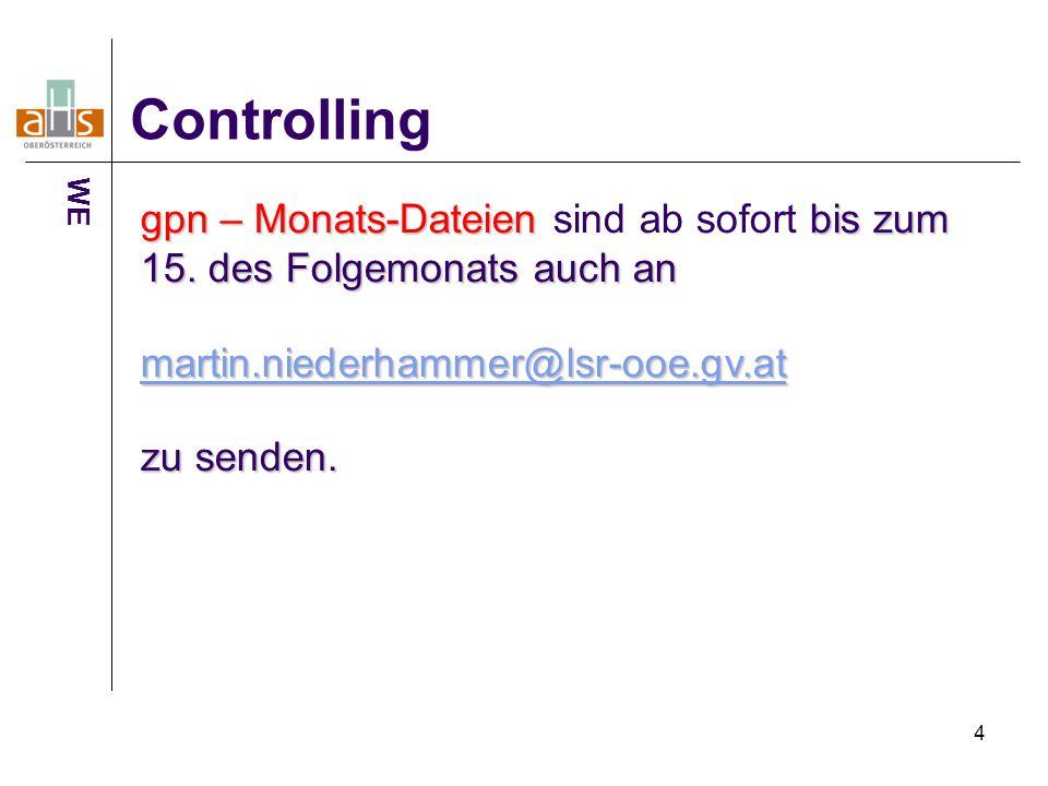 4 Controlling gpn – Monats-Dateien bis zum 15.