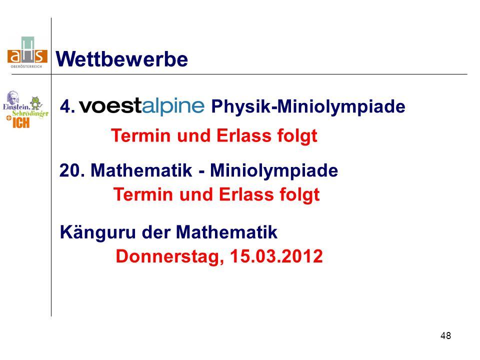 48 4. - Physik-Miniolympiade Wettbewerbe 20.