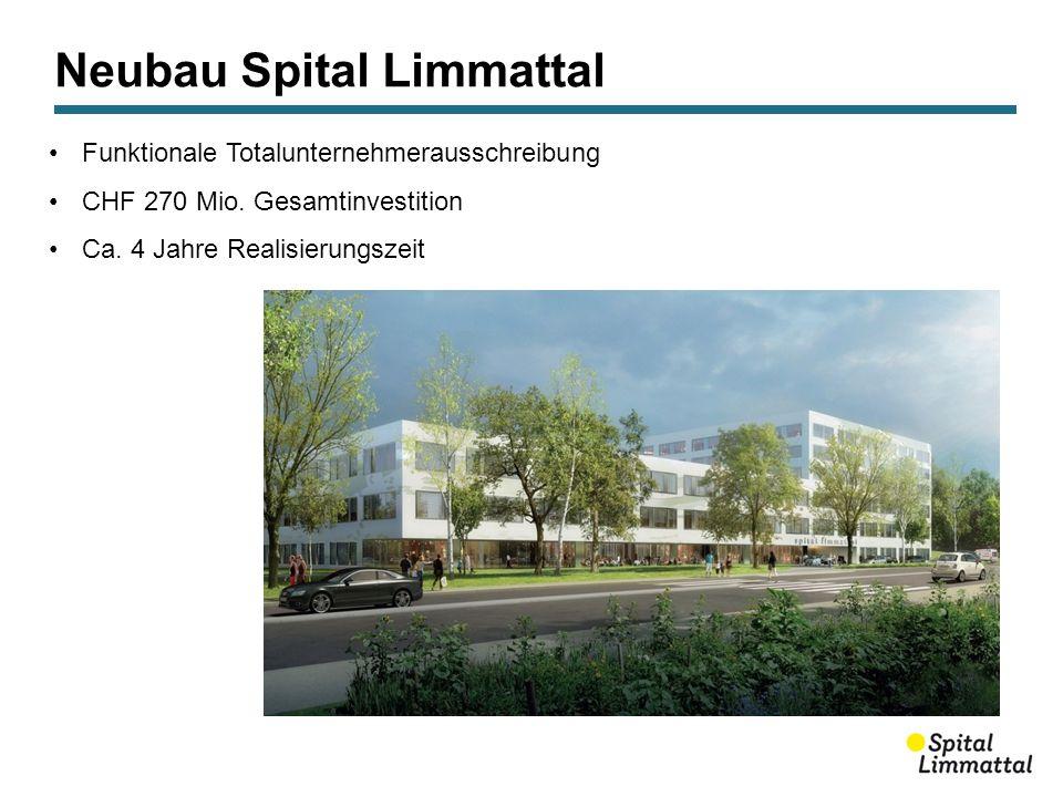 Neubau Spital Limmattal Funktionale Totalunternehmerausschreibung CHF 270 Mio.