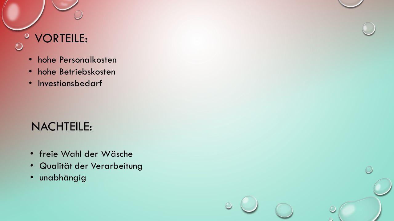 ZENTRALWÄSCHEREI/GROSSWÄSCHEREI Was ist eine Zentralwäscherei/Grosswäscherei.