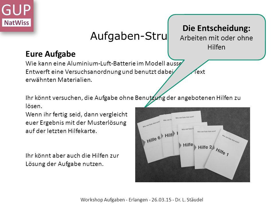 7 Schritte zur eigenen Aufgabe Workshop Aufgaben - Erlangen - 26.03.15 - Dr.