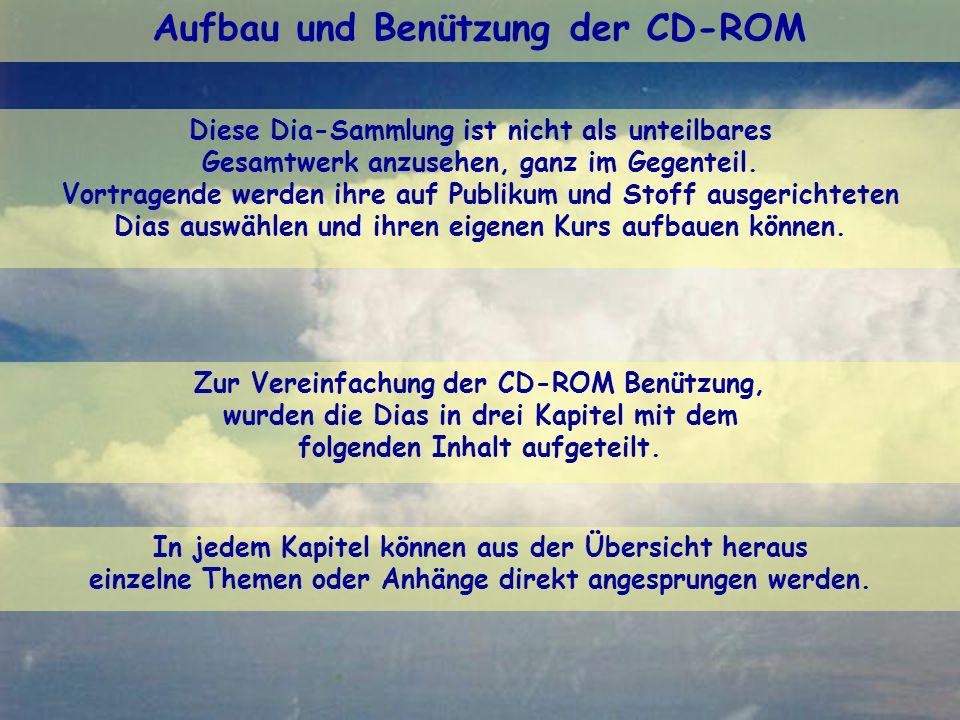 Aufbau und Benützung der CD-ROM Die Kommissionen «Ausbildung» und «Meteorologie» der FFVV.