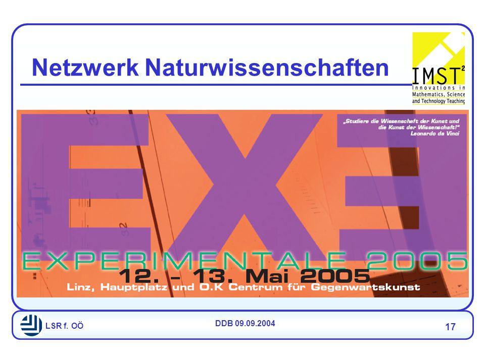 LSR f. OÖ DDB 09.09.2004 17 Netzwerk Naturwissenschaften