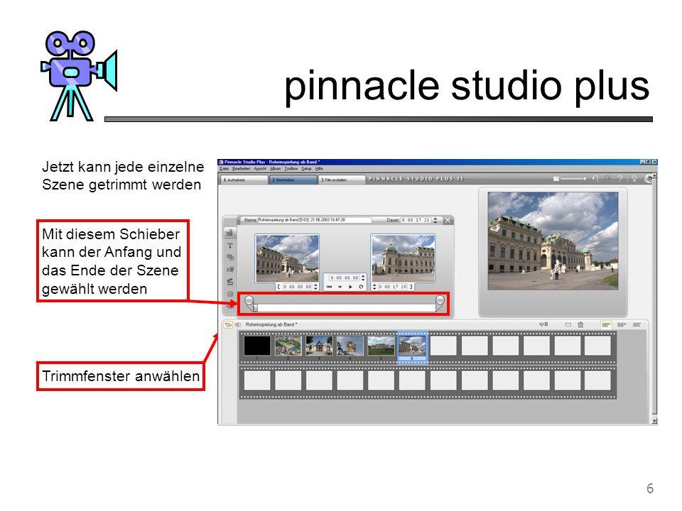 pinnacle studio plus 7 Blenden, d.h.
