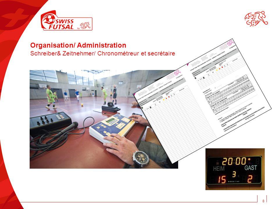 8 Organisation/ Administration Schreiber& Zeitnehmer/ Chronométreur et secrétaire