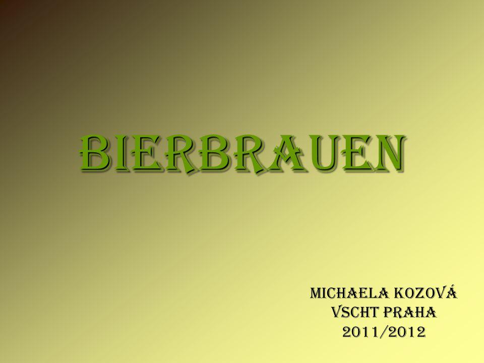 BIERBRAUEN Michaela Kozová VSCHT PRAHA 2011/2012
