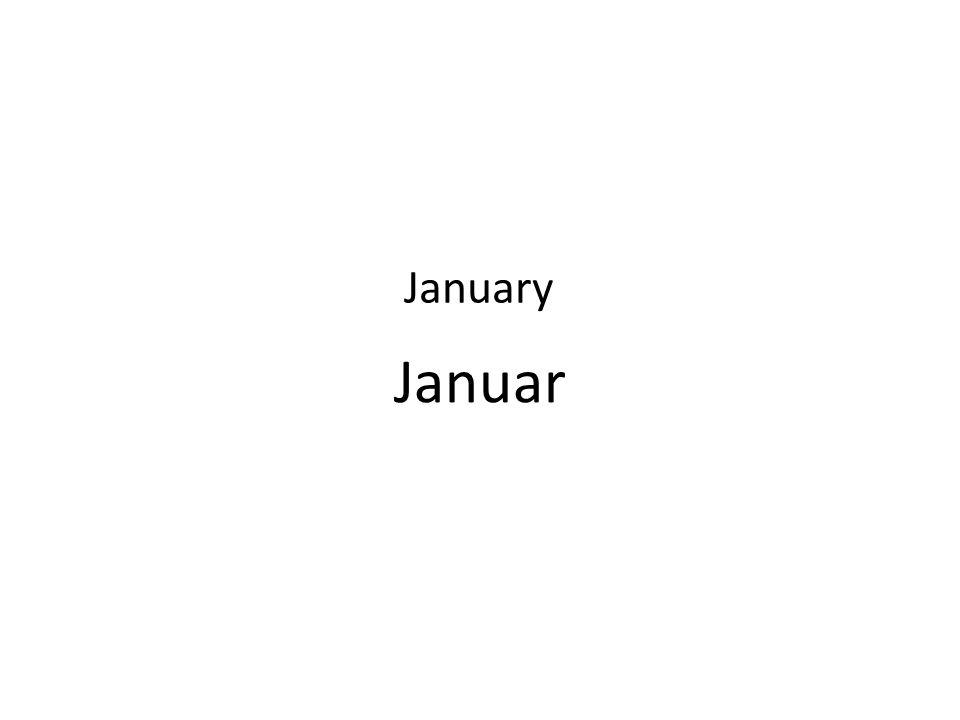 Januar January