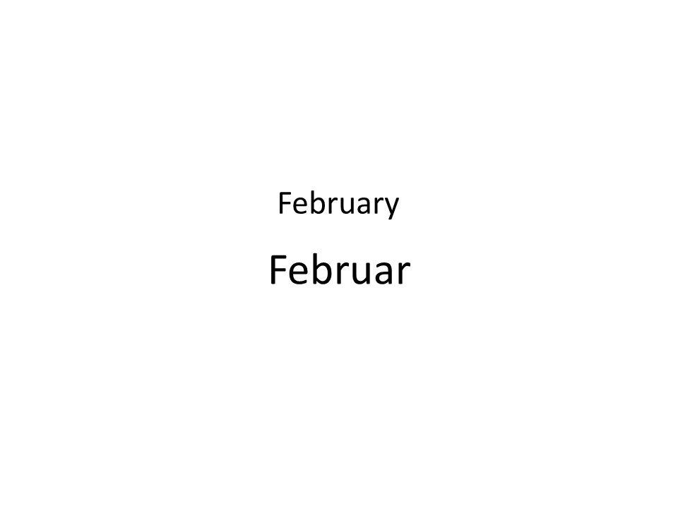 Februar February