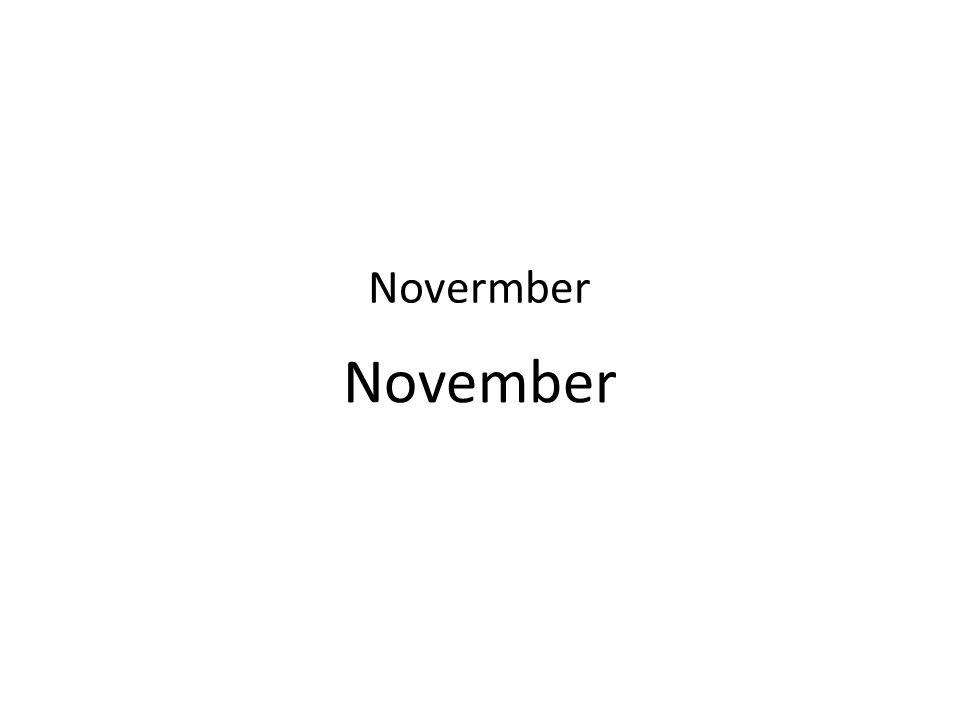 November Novermber