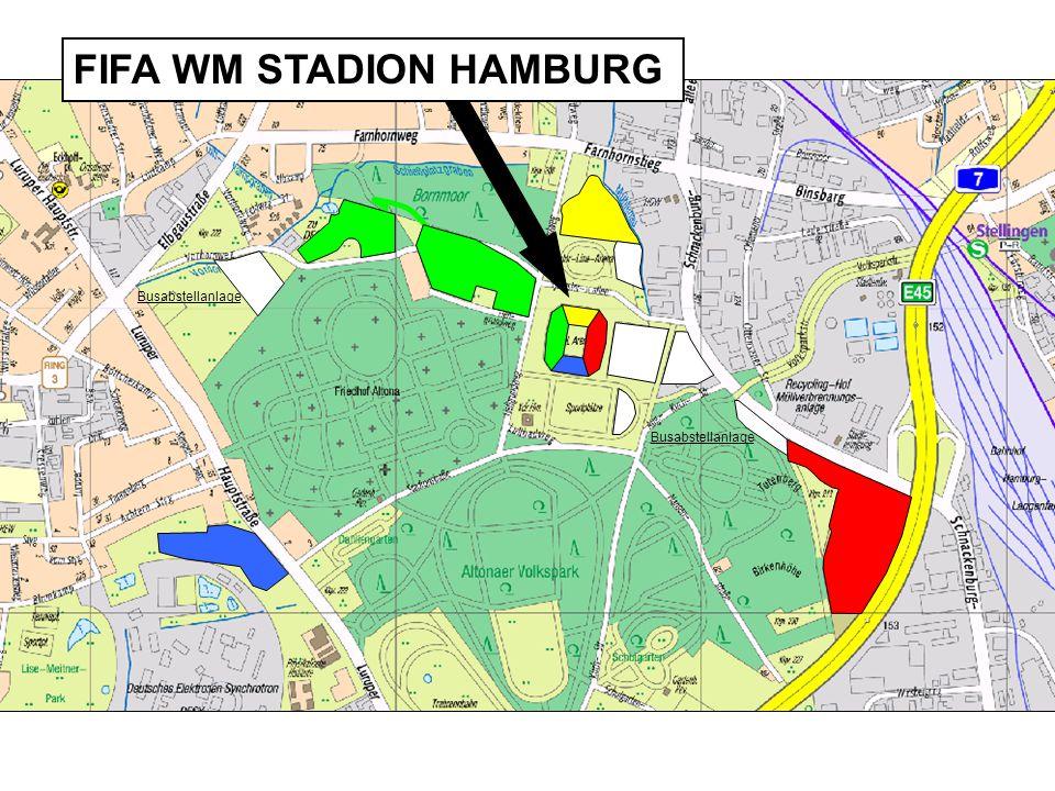 Busabstellanlage FIFA WM STADION HAMBURG