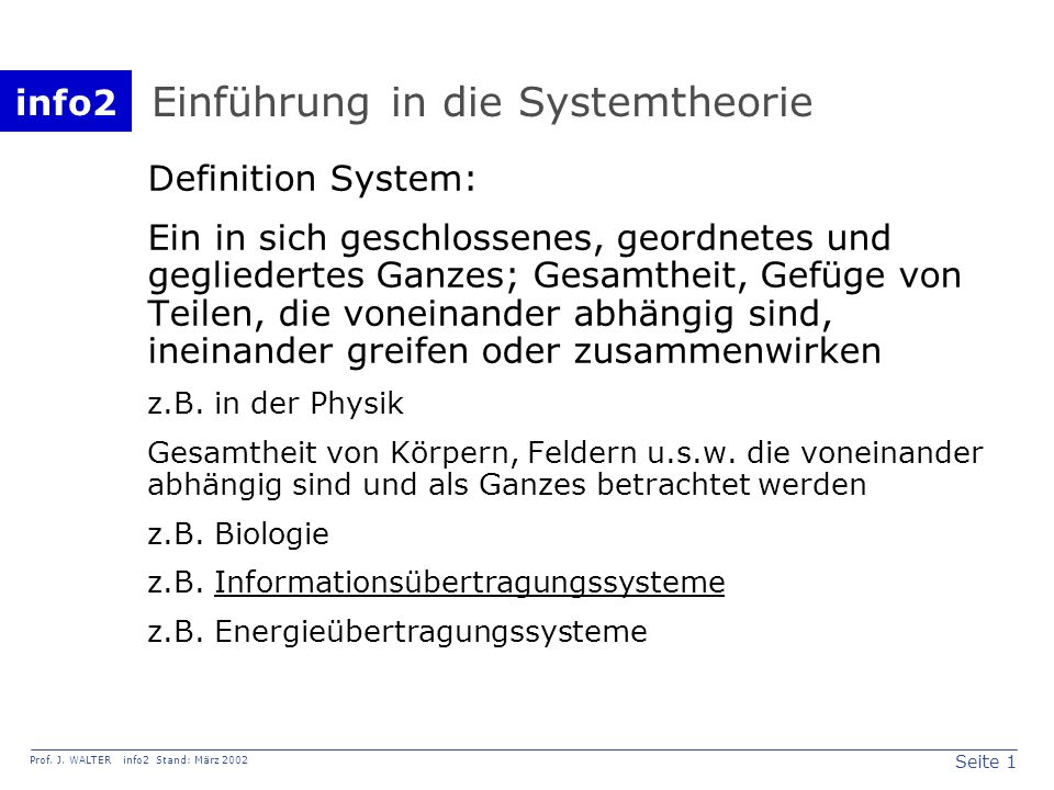 info2 Prof. J.