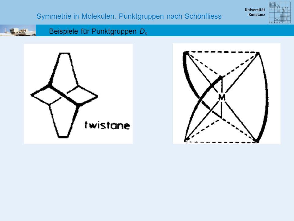 Symmetrie in Molekülen: Punktgruppen nach Schönfliess Beispiele für Punktgruppen D n