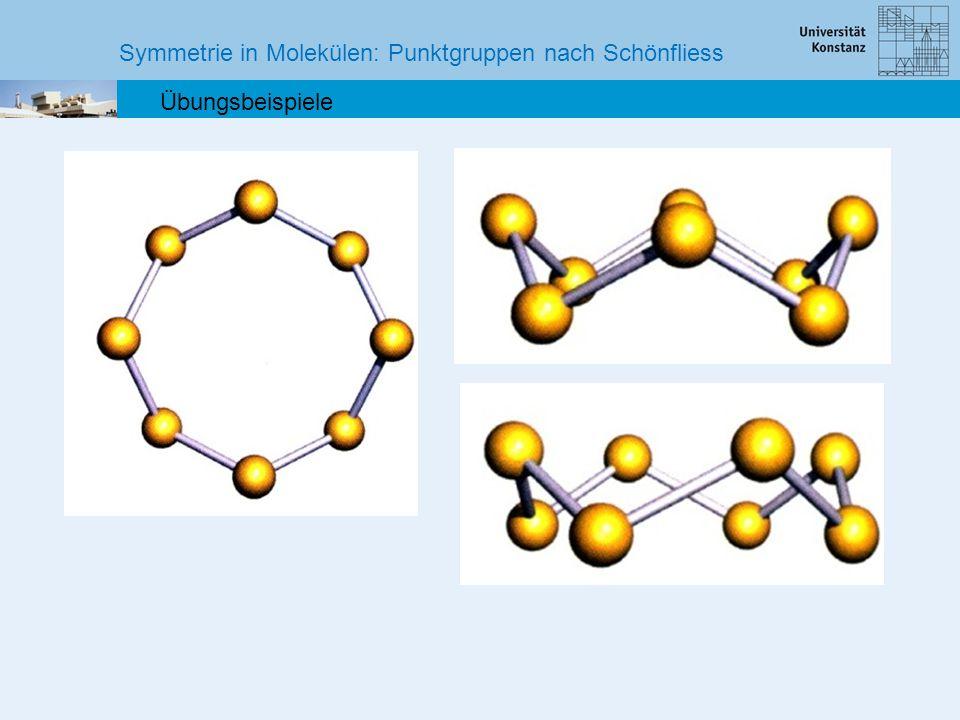 Symmetrie in Molekülen: Punktgruppen nach Schönfliess Übungsbeispiele