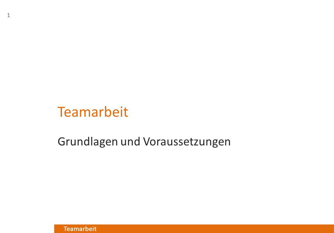 Teamarbeit Grundlagen und Voraussetzungen 1