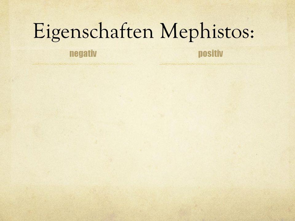 Eigenschaften Mephistos: negativpositiv