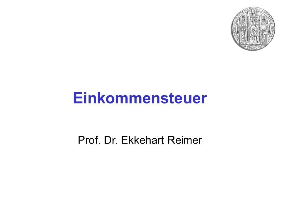 Einkommensteuer Prof. Dr. Ekkehart Reimer