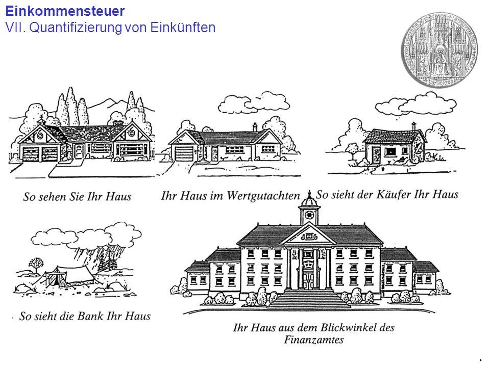 Einkommensteuer VII. Quantifizierung von Einkünften.